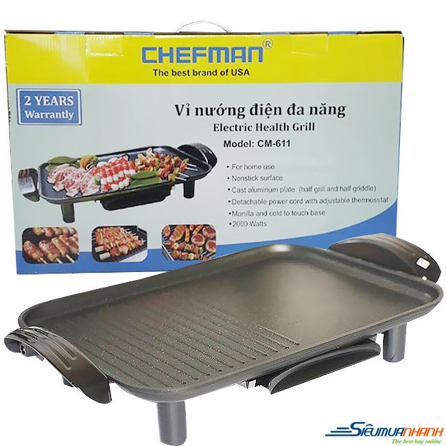 Vỉ nướng điện không khói Chefman CM-611