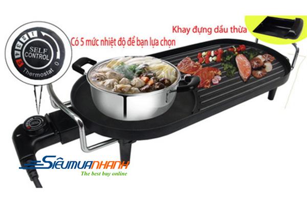 Bếp lẩu nướng điện đa năng samsung DH-805A