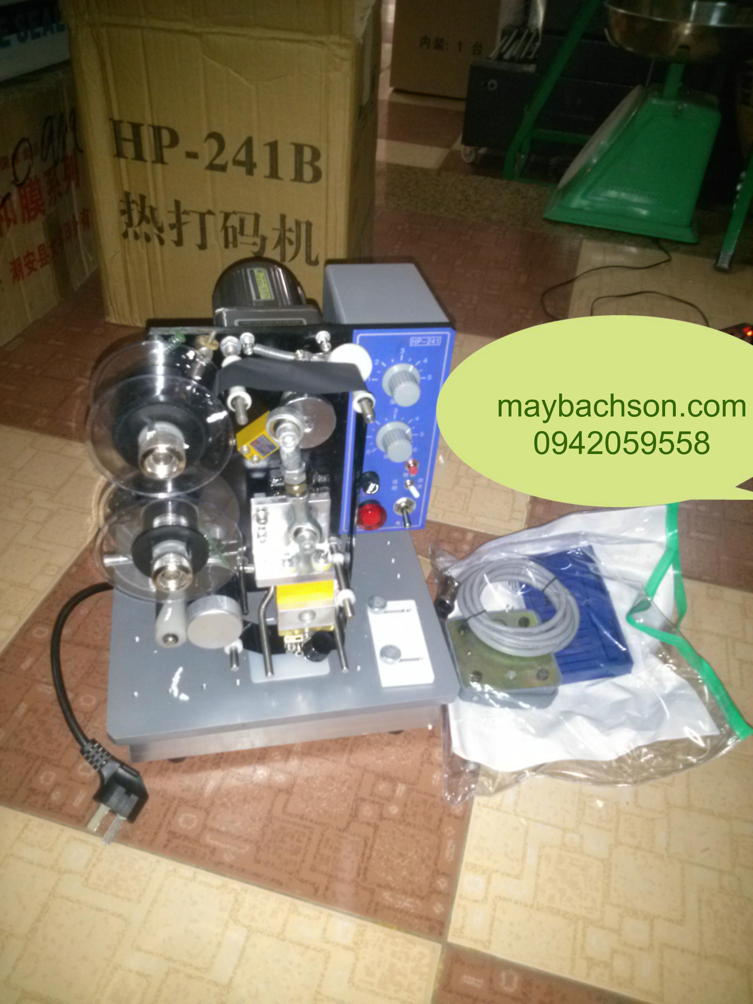 Máy in date trên nilon, nhãn mác, máy in date HP 241
