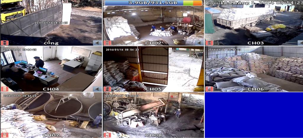 Lắp đặt hệ thống camera giám sát cho nhà kho hàng