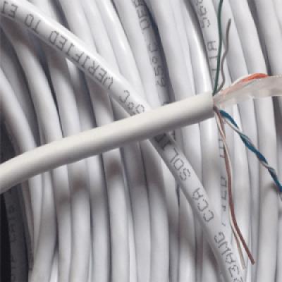 Dây mạng UTP AMP Cat6E Vỏ PVC màu trắng