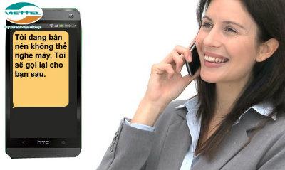 Dịch vụ Auto SMS Viettel – Tin nhắn báo bận tự động