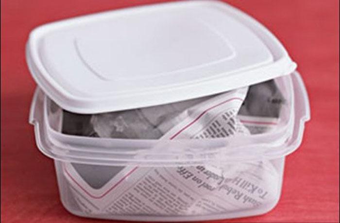 Cách khử mùi cho hộp nhựa