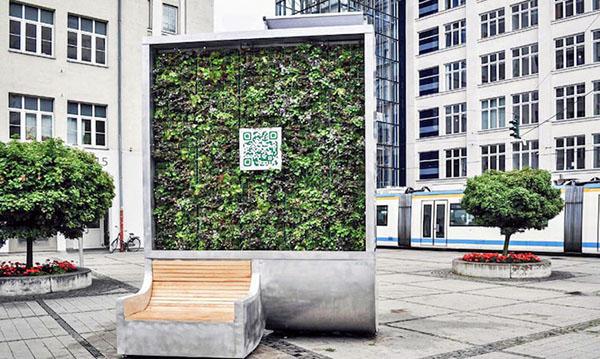 Thanh lọc không khí bằng bức tường cây công nghệ