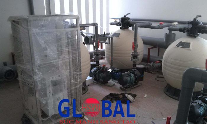 máy ozone công nghiệp xử lý nước bể bơi