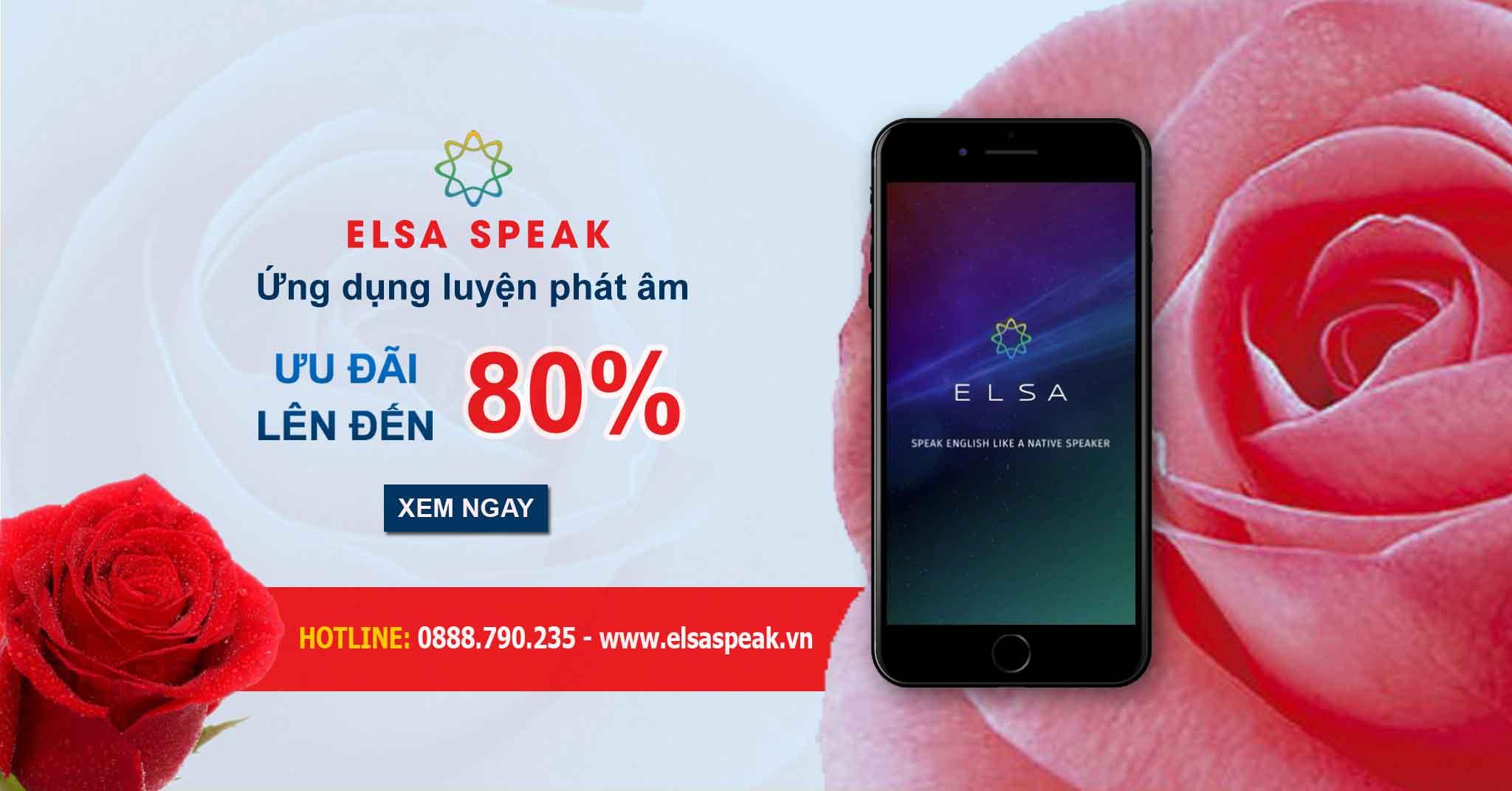 Ứng dụng luyện phát âm Elsa Speak giảm giá lên tới 80%, tặng thêm 2 code 3 tháng cho gói trọn đời