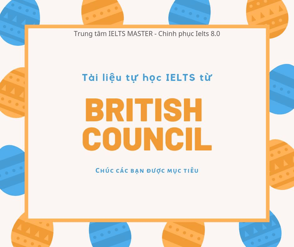 Tổng hợp nguồn học tiếng anh của British Council