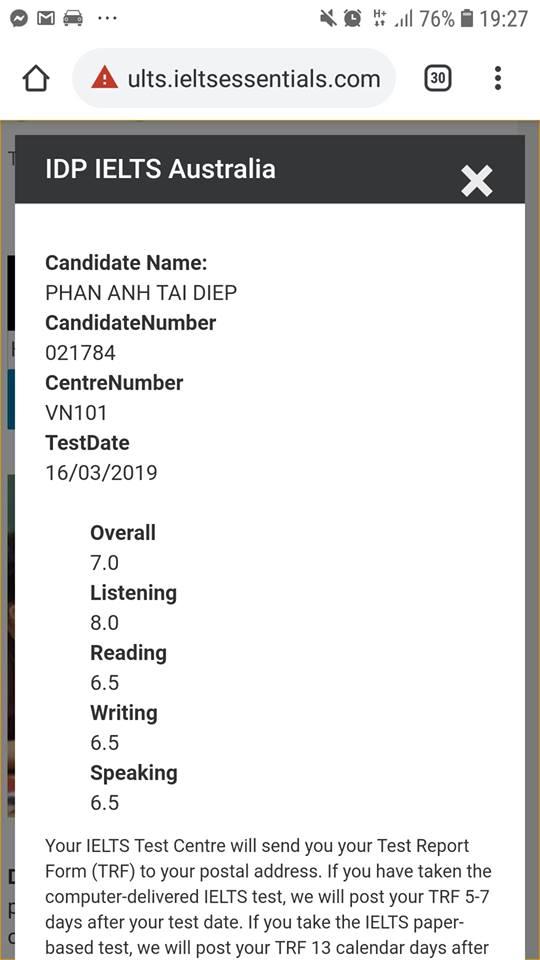Lần đầu thi IELTS On Computer tại IDP...
