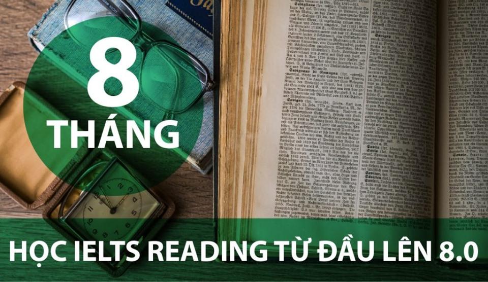 8 THÁNG HỌC HỌC READING TỪ ĐẦU LÊN 8.0