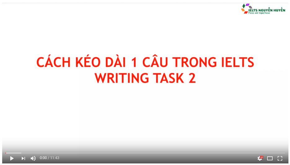 CÁCH KÉO DÀI 1 CÂU TRONG IELTS WRITING TASK 2