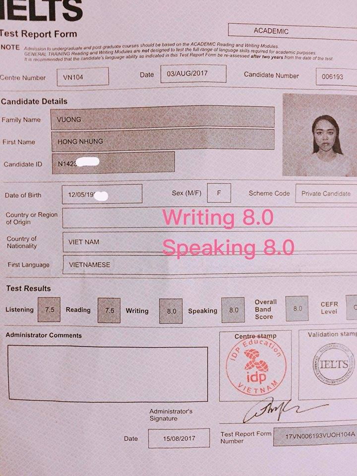 Chia sẻ kinh nghiệm 8.0 IELTS Speaking