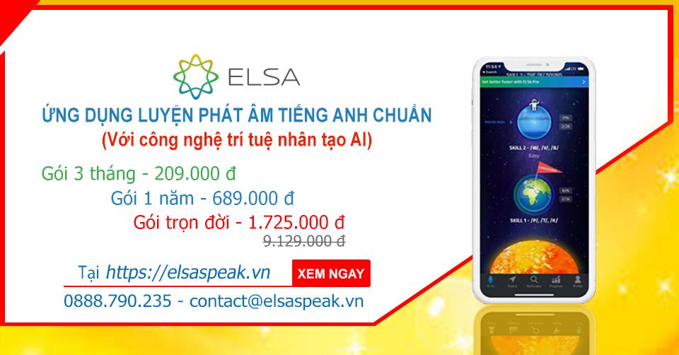 Elsa Speak giá ưu đãi chương trình liên kết với hotdeal.vn