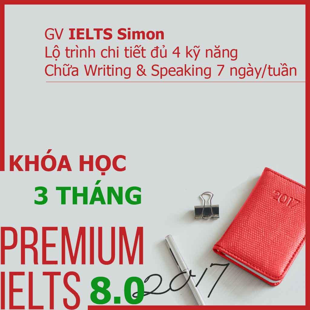 Khóa học Premium IELTS 8.0 - 3 tháng tại ieltsplanet.info