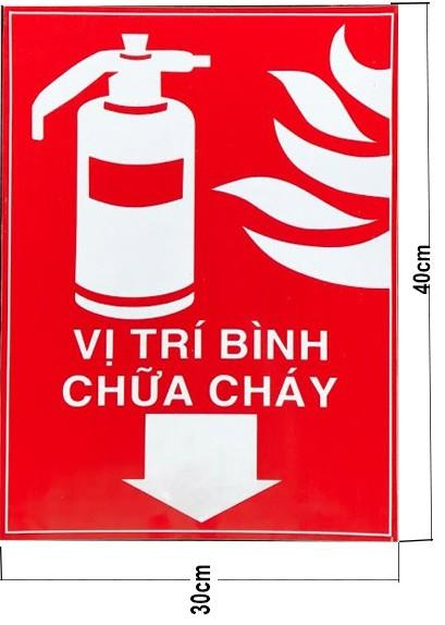 Bảng báo hiệu vị trí đặt bình cứu hỏa