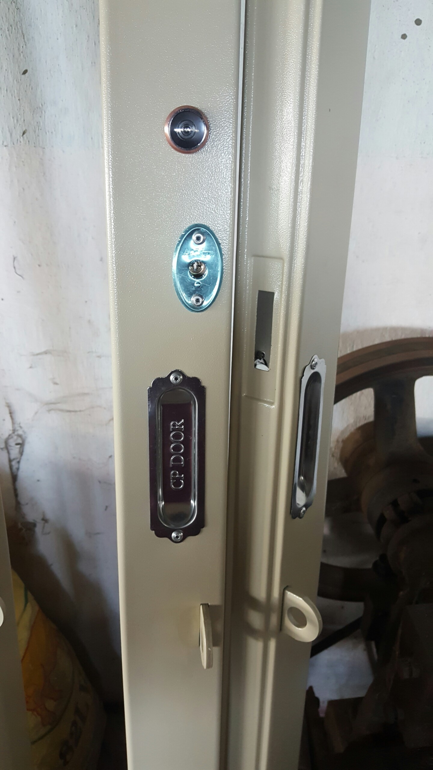 Tay hộp cửa kéo - tay hộp KHÔNG nẹp inox - tay hộp âm dương