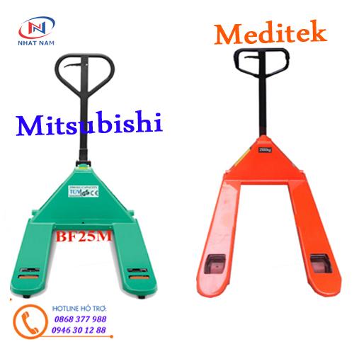 Xe nâng tay Mitsubishi và xe nâng tay Meditek bạn nên chọn thương hiệu nào