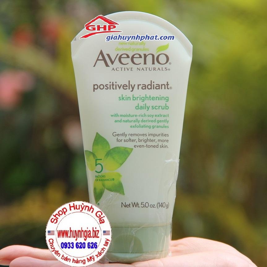 Sữa rửa mặt trắng da tẩy da chết hàng ngày Aveeno