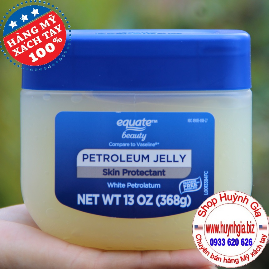 Sáp dưỡng ẩm da vaseline Equate Hàng mỹ phẩm Xách Tay Từ Mỹ