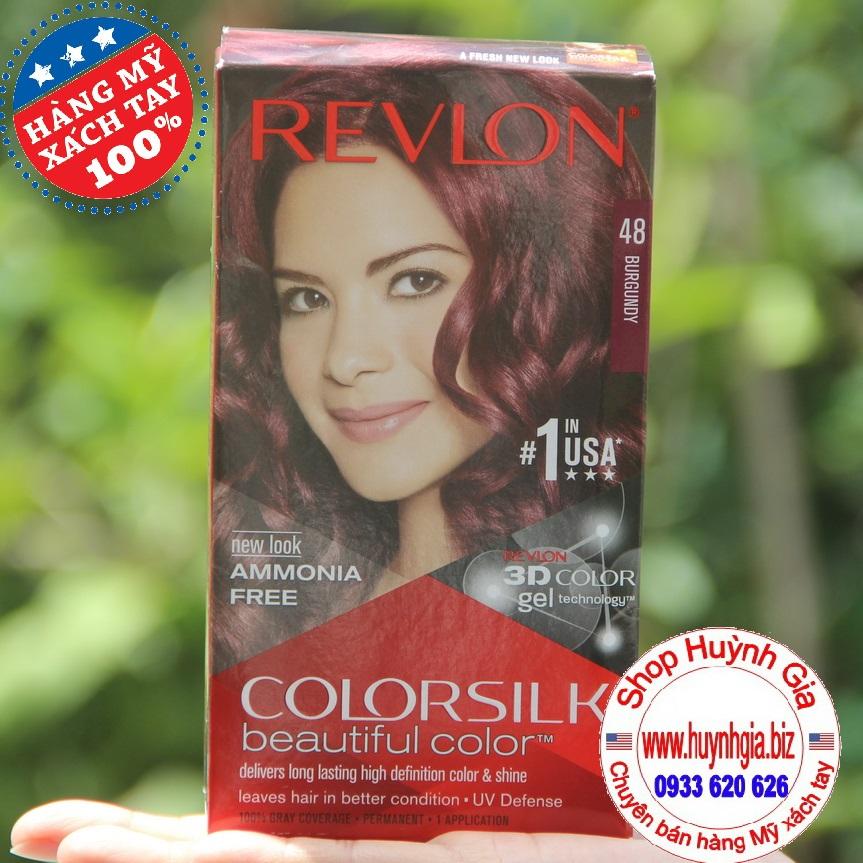 Kem nhuộm tóc màu đỏ tía #48 Revlon của Mỹ