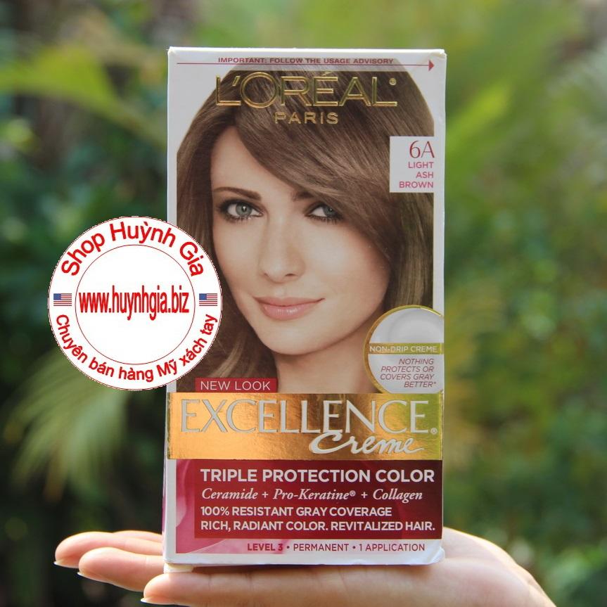 Thuốc nhuộm tóc L'oreal Excellence Creme 6A hàng Mỹ phẩm xách tay
