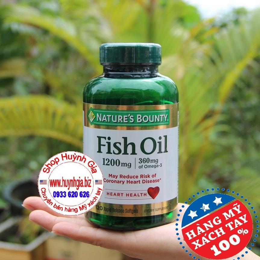 Dầu cá Nature Bounty Fish Oil của Mỹ