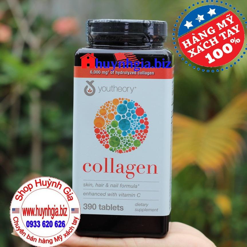 Viên uống đẹp da Collagen Youtheory (mẫu mới)
