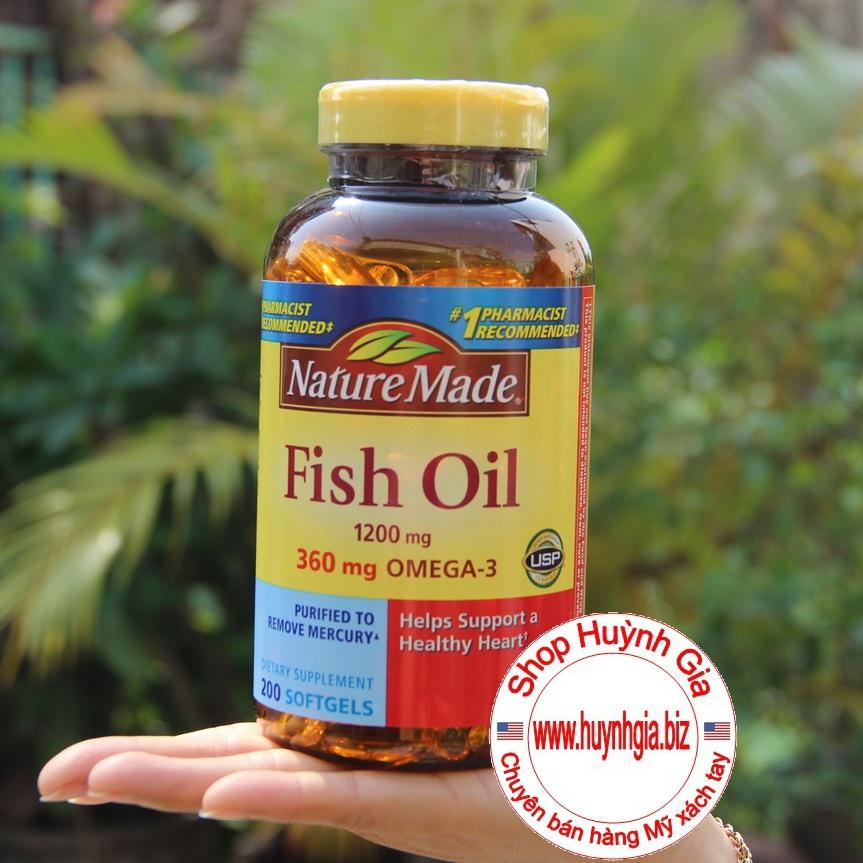 Viên uống Dầu Cá thực phẩm chức năng Mỹ Nature Made Fish Oil Omega 3