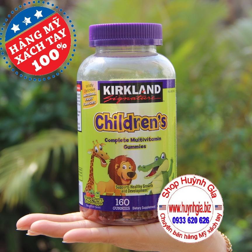 Kẹo dẻo bổ sung Vitamin cho trẻ em Kirkland Children's Multivitamin