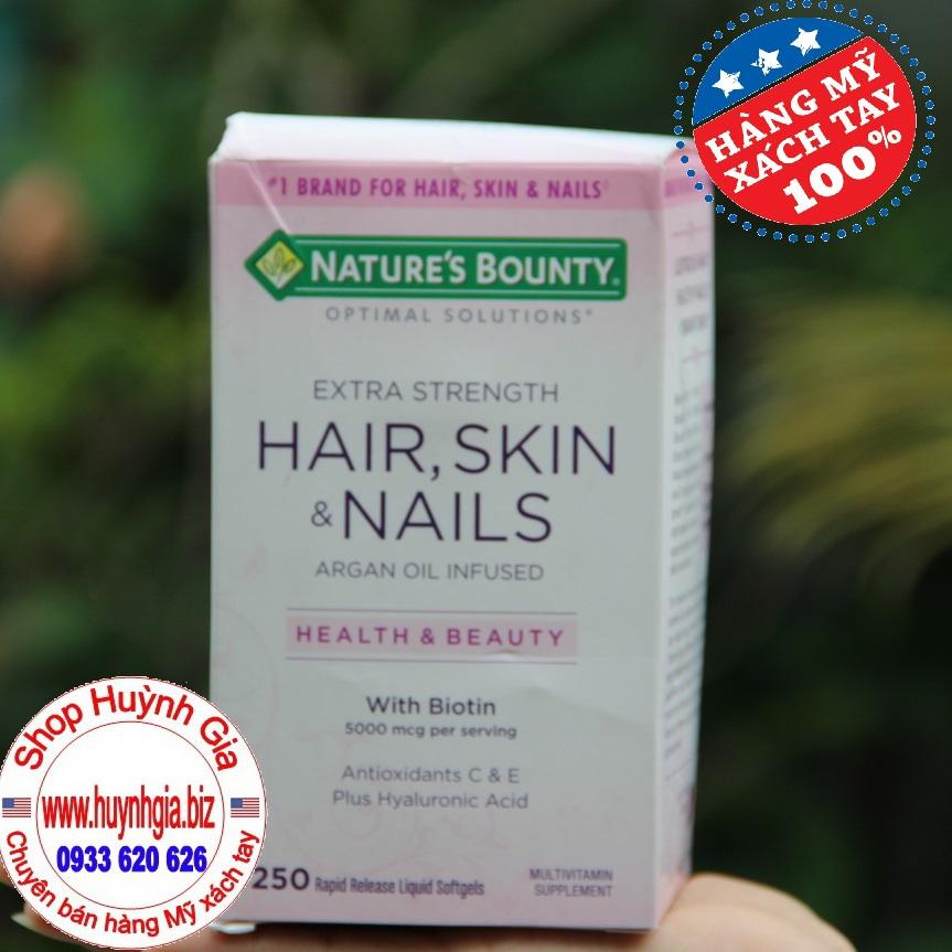 Viên uống bổ sung vitamin làm đẹp da tóc và móng Nature Bounty của Mỹ