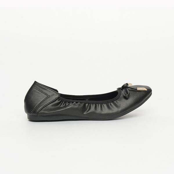 Giày bệt đen có nơ SGA389-99BA