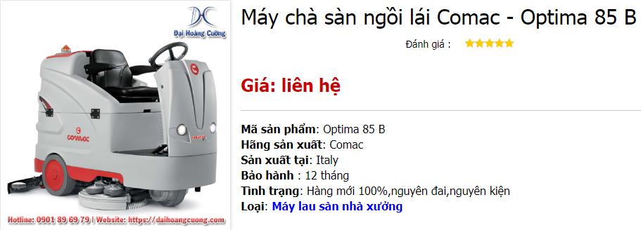 Có nên mua máy chà sàn ngồi lái Comac Optima 85 B không