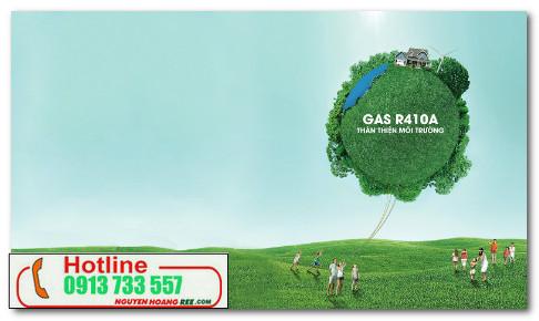 Alaska inverter 1,0HP gas 410 thân thiện với môi trường