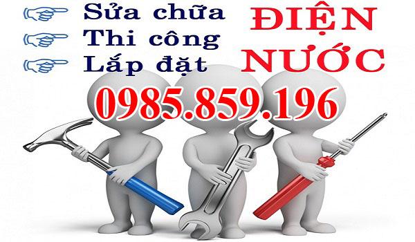 Sửa chữa điện nước tại A1 – 0985.859.196