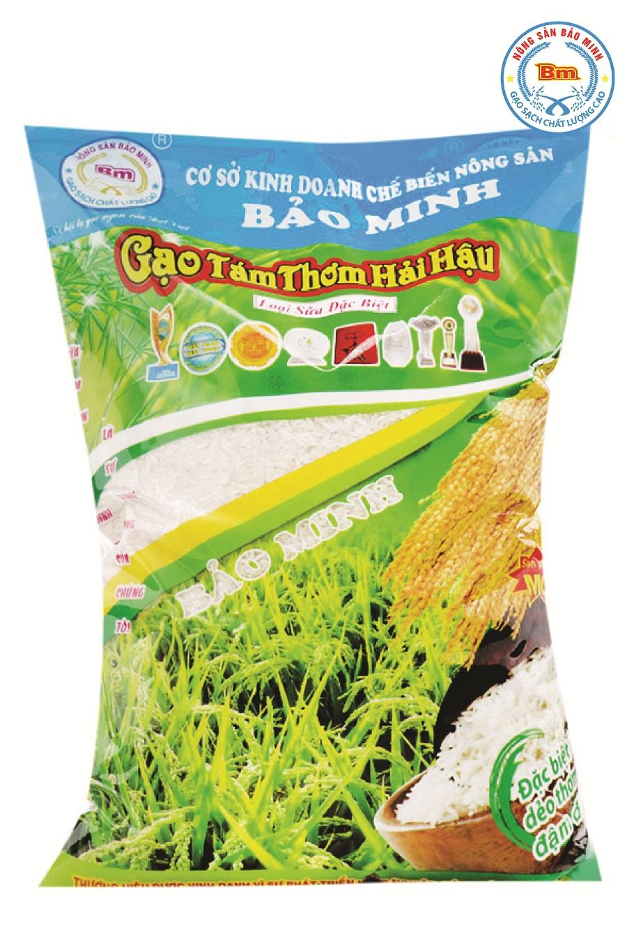 Gạo tám xoan Hải Hậu Bảo Minh túi 10kg
