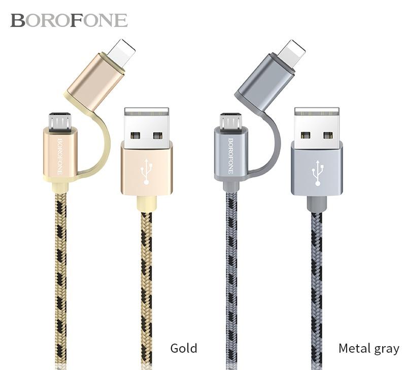 CÁP USB BX9 MAGICSYNC - LIGHTNING + MICRO 2-IN-1