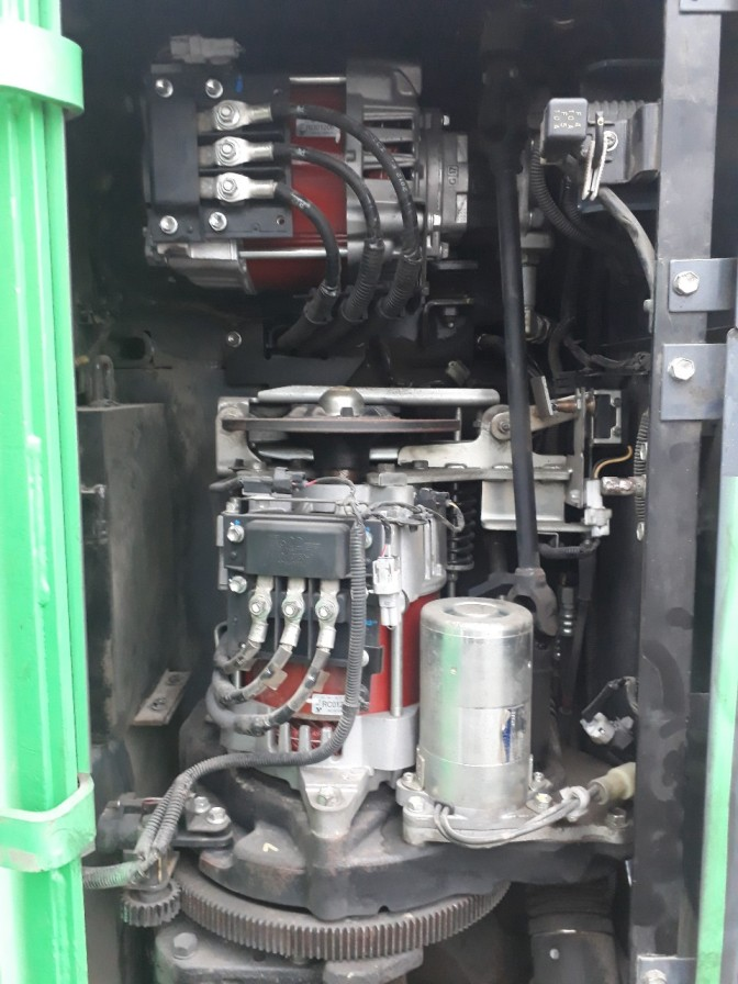 Xe nâng điện cũ hiệu Toyota tải trọng 1.5 tấn, nâg cao 3.5m, Model 7FBR15, Số khung 7FBR15-50509, Khung V3700, SX năm 2012.