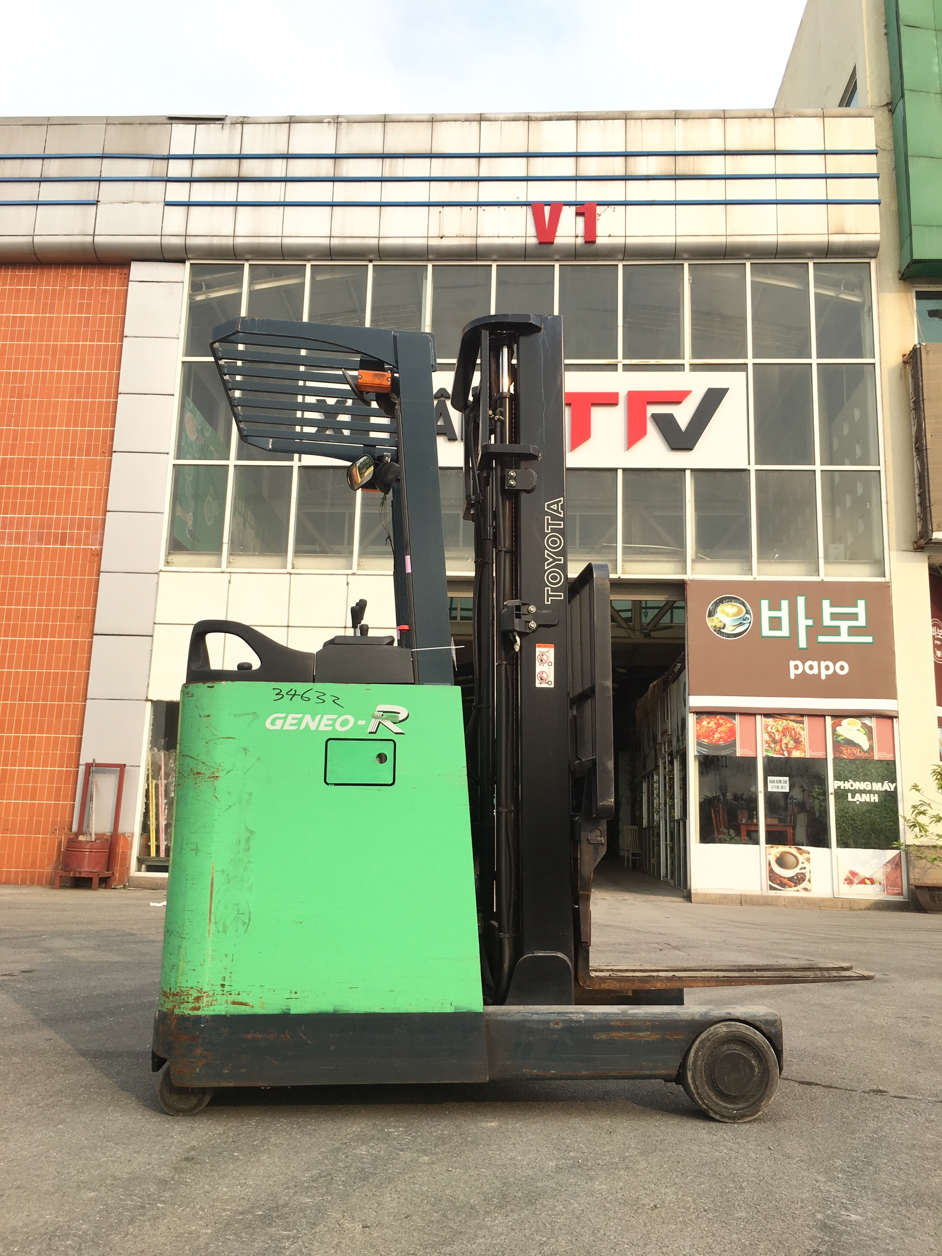 Xe nâng cũ Toyota 7FBR15-34632, tải trọng 1.5 tấn, nâng cao 3.8m, sx 2011