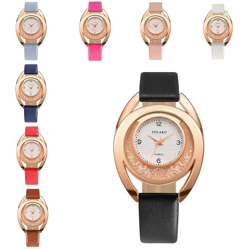 Đồng hồ đeo tay nữ YOLAKO mặt nguyệt