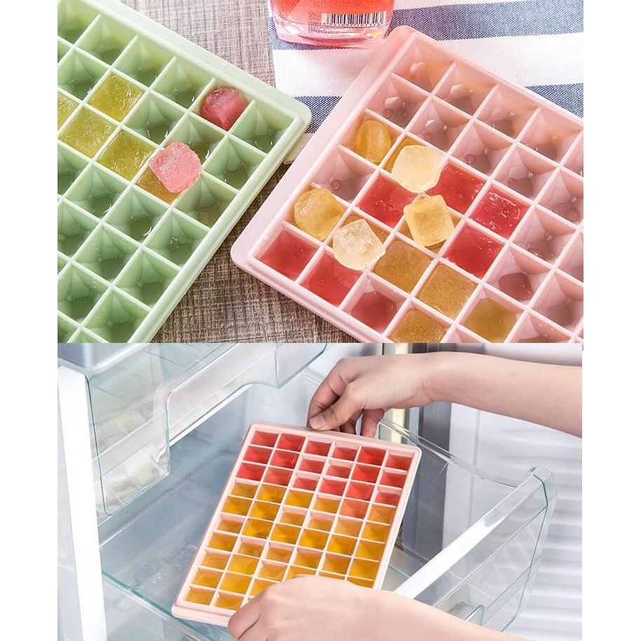 Khay Làm Đá Viên Tủ Lạnh Bằng Nhựa Dẻo 60 Ngăn