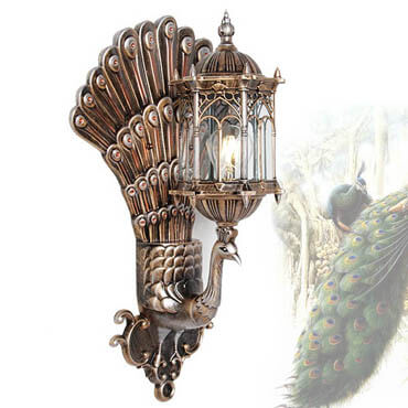 Đèn treo tường dạng chim khổng tước ROL129