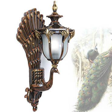Đèn tường thủy tinh hình chim công ROL126
