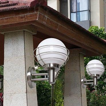 Đèn vách tường inox sân vườn ROL212