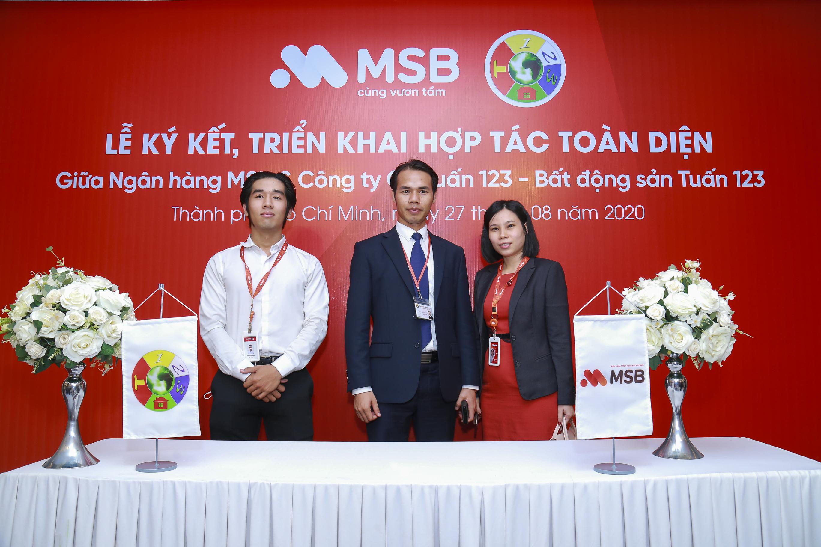 Bất động sản Tuấn 123 ký hợp đồng hợp tác toàn diện với ngân hàng MSB